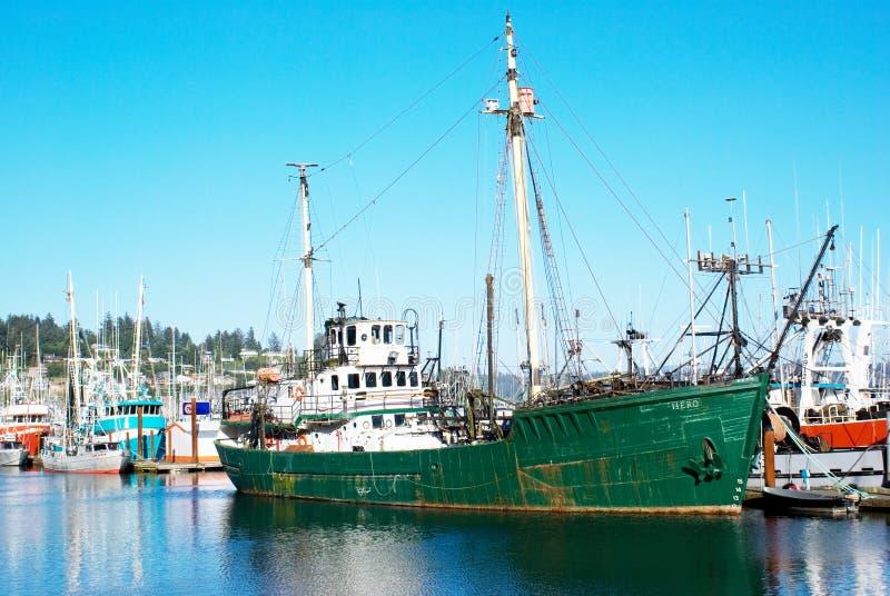 Le bateau de recherches, héros. image libre de droits