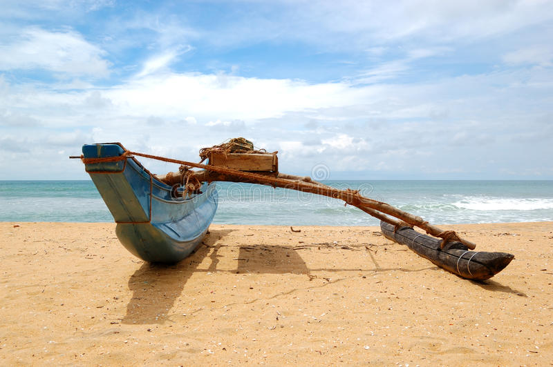 Le bateau du Sri Lanka traditionnel photo libre de droits