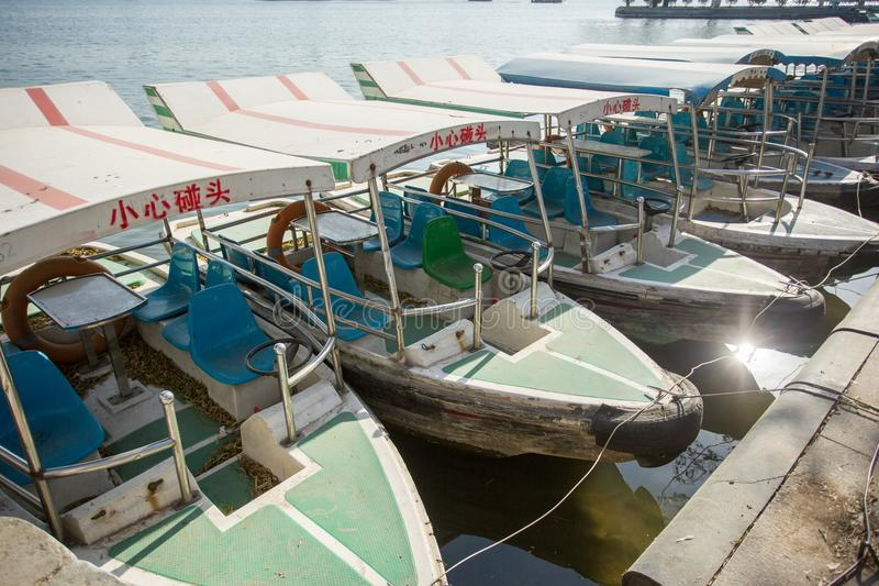 Le bateau en parc photographie stock libre de droits