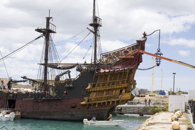 Le bateau noir de perle en Hawaï photo libre de droits