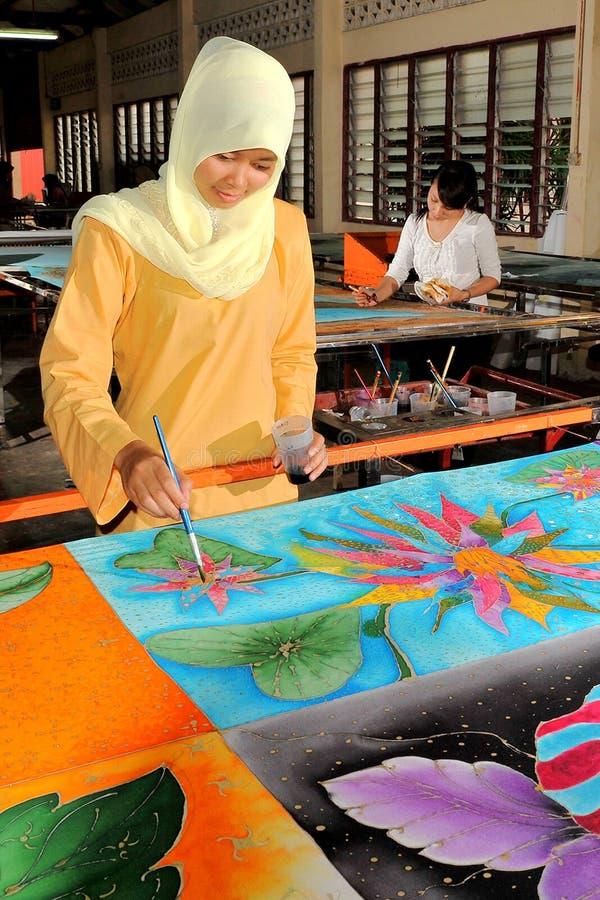 Peinture de main de batik photo stock