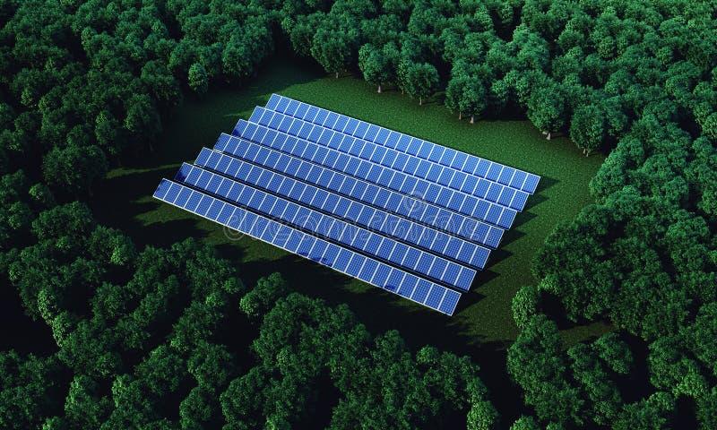Le batterie solari fotografia stock