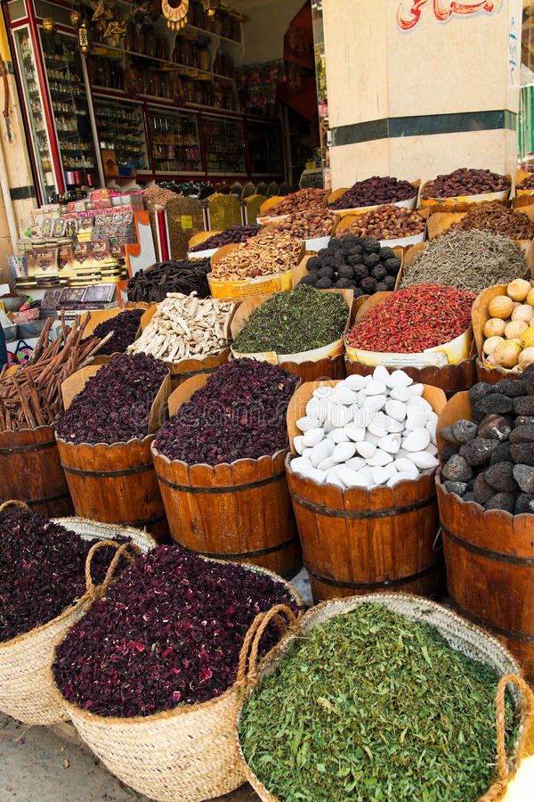 le bazar d'Aswan en Egypte. image libre de droits