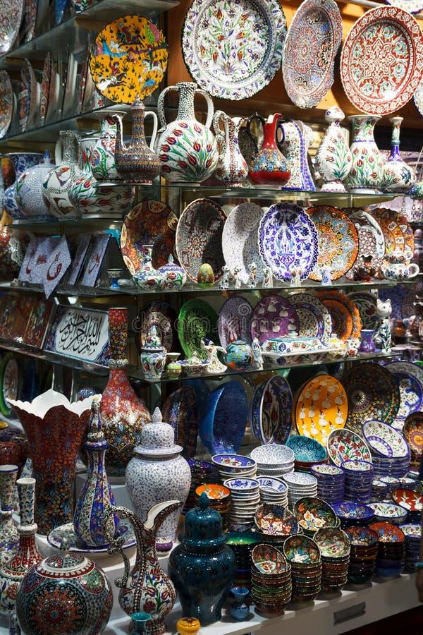 Le bazar grand, stalle du marché, Istanbul, Turquie photos libres de droits