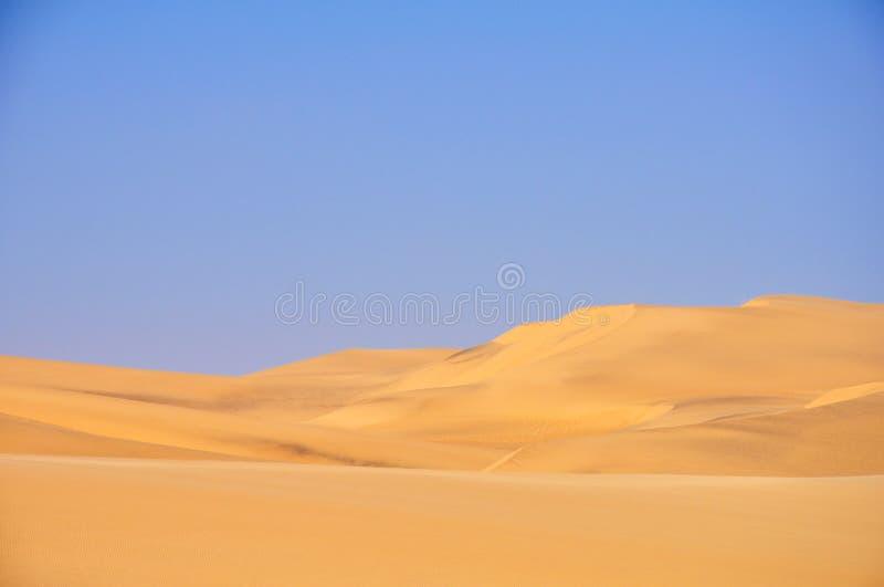 Le beau contraste du désert photographie stock