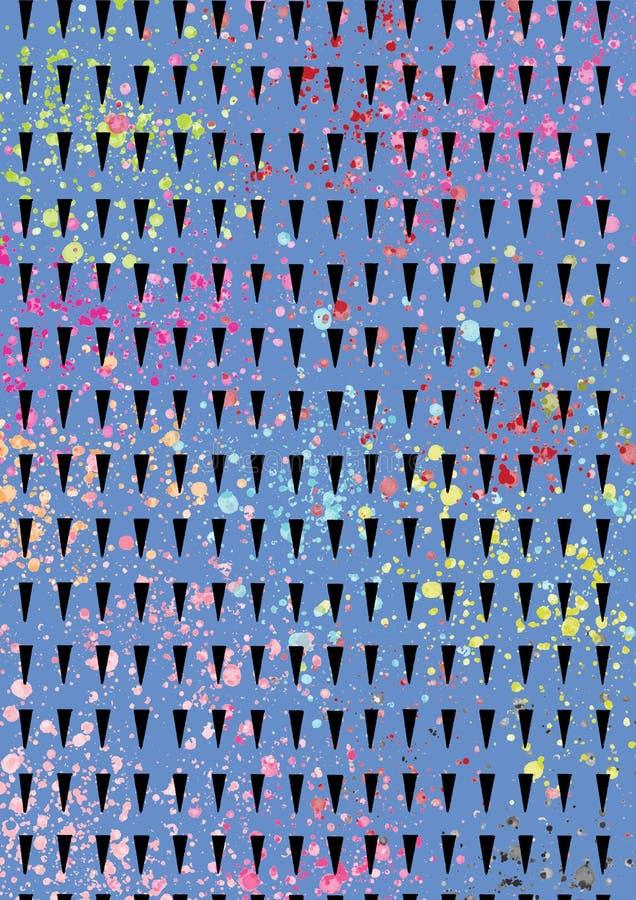Le beau fond abstrait géométrique de couleur avec la peinture éclabousse illustration stock
