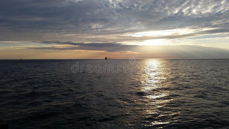 Le beau lac Michigan images stock