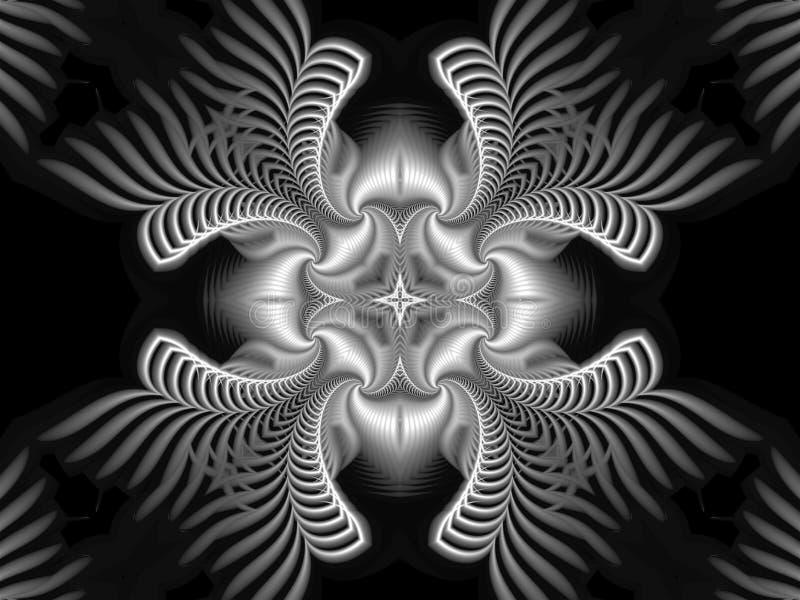 Le beau logo abstrait a fait dans des spirales se composantes d'un style futuriste et avec une étoile au centre illustration de vecteur
