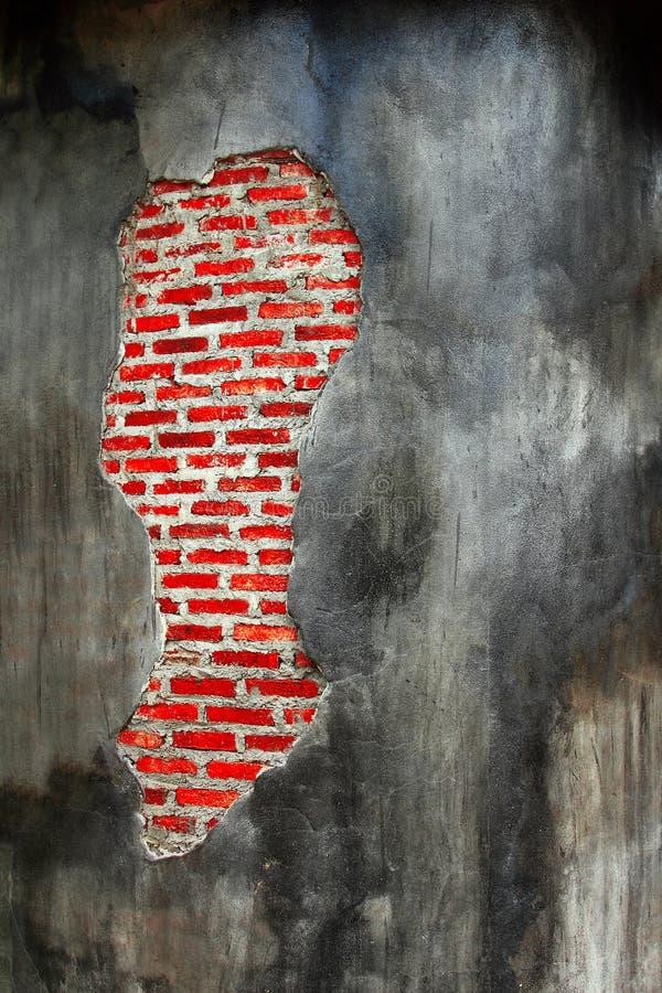 Le beau mur brun abstrait de modèle, se ferment vers le haut du vieux mur de briques rouge et du fond approximatif de texture image stock