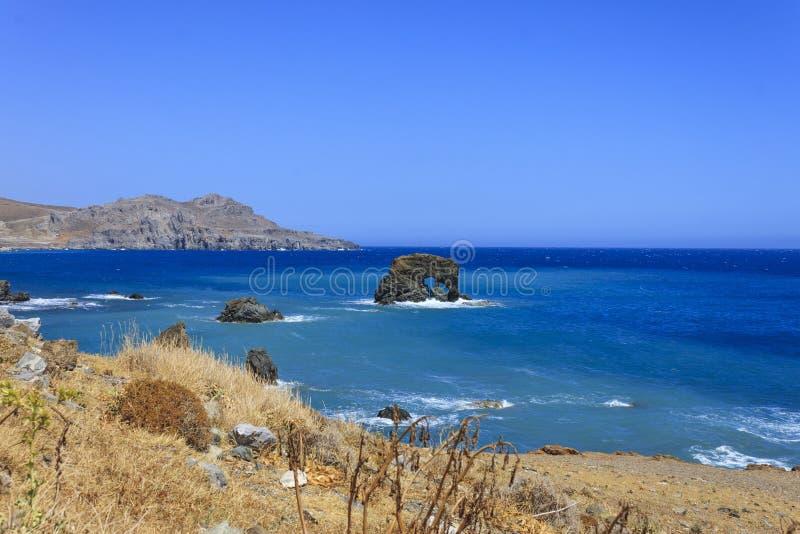 Le beau panorama chez Lendas, Crète image libre de droits