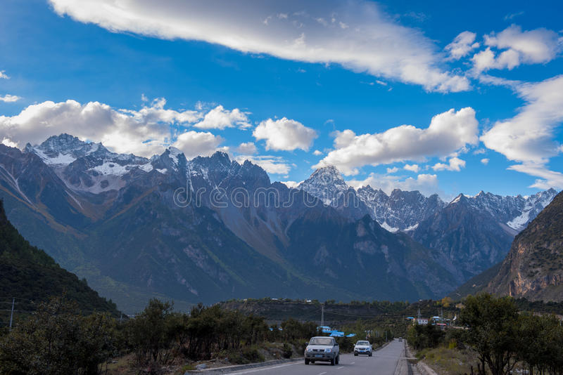 Le beau paysage : Déplacement au Thibet images libres de droits