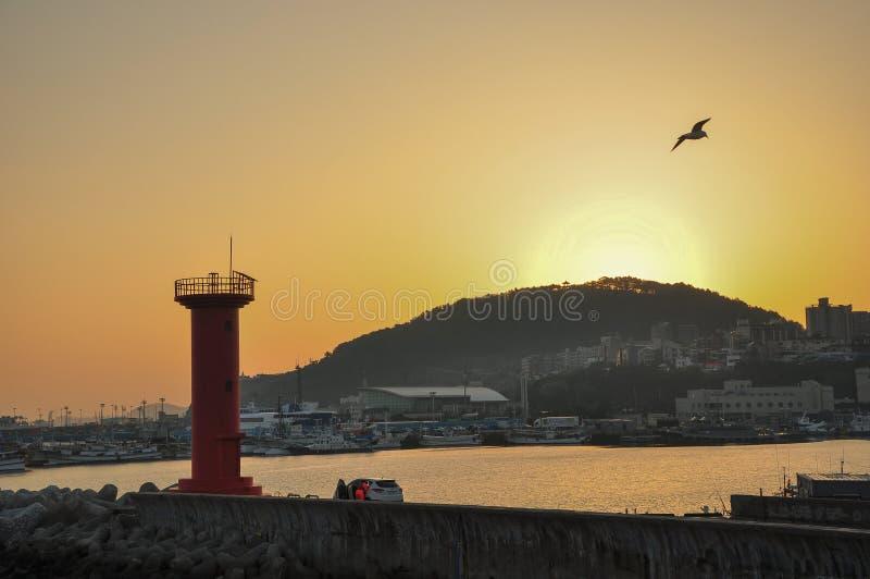 Le beau paysage de lever de soleil photos libres de droits