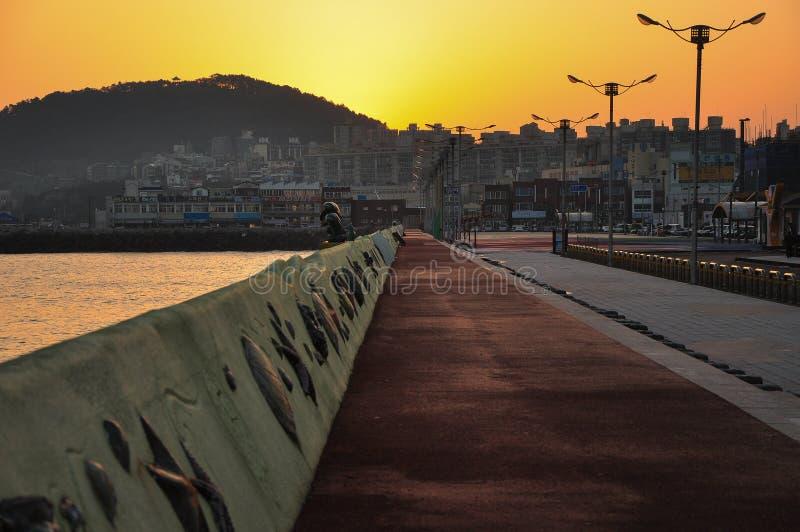 Le beau paysage de lever de soleil photo stock