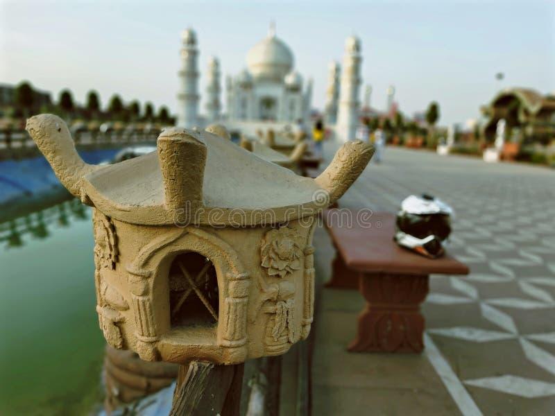 Le beau Taj Mahal images libres de droits
