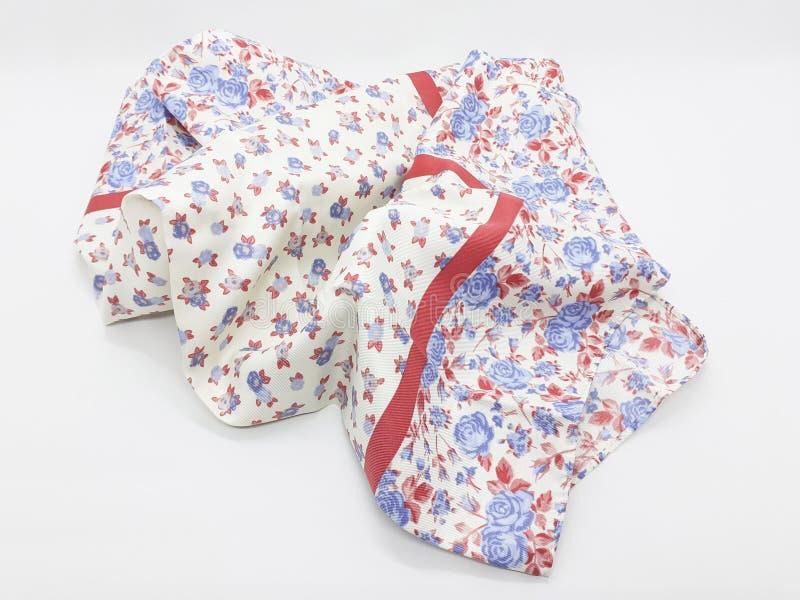 Le beau textile coloré de tissu de vêtement avec les ornements artistiques modèlent à l'arrière-plan d'isolement blanc 01 photo libre de droits
