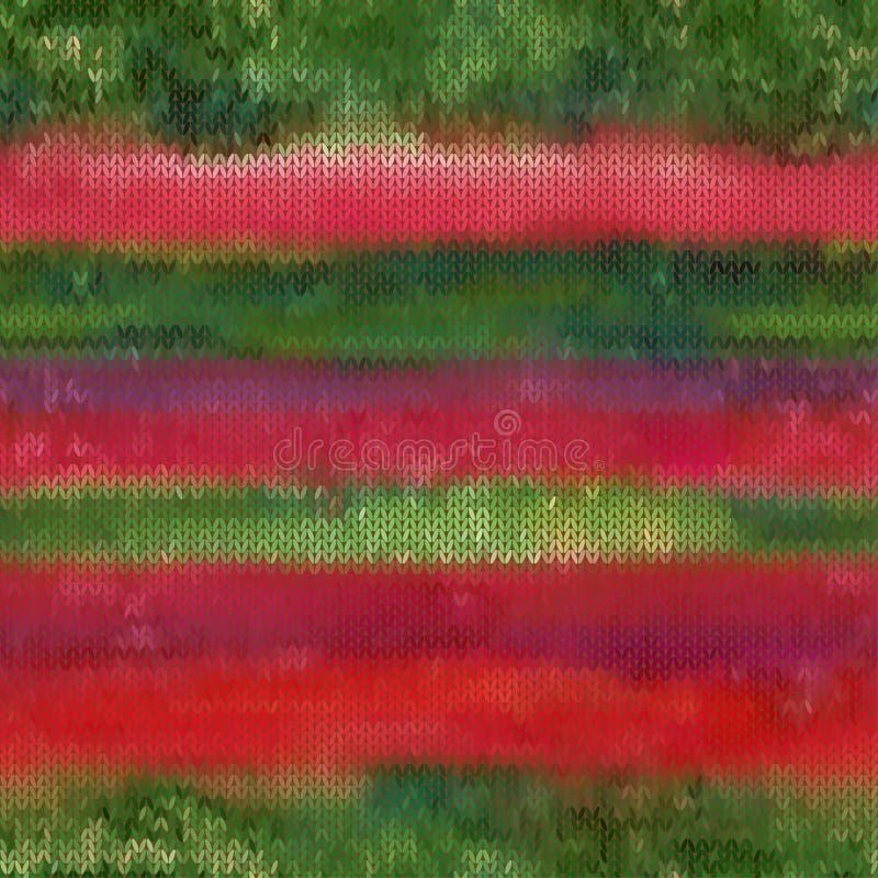 Le beau vecteur sans couture vert de rouge et de gark a tricoté le modèle illustration libre de droits