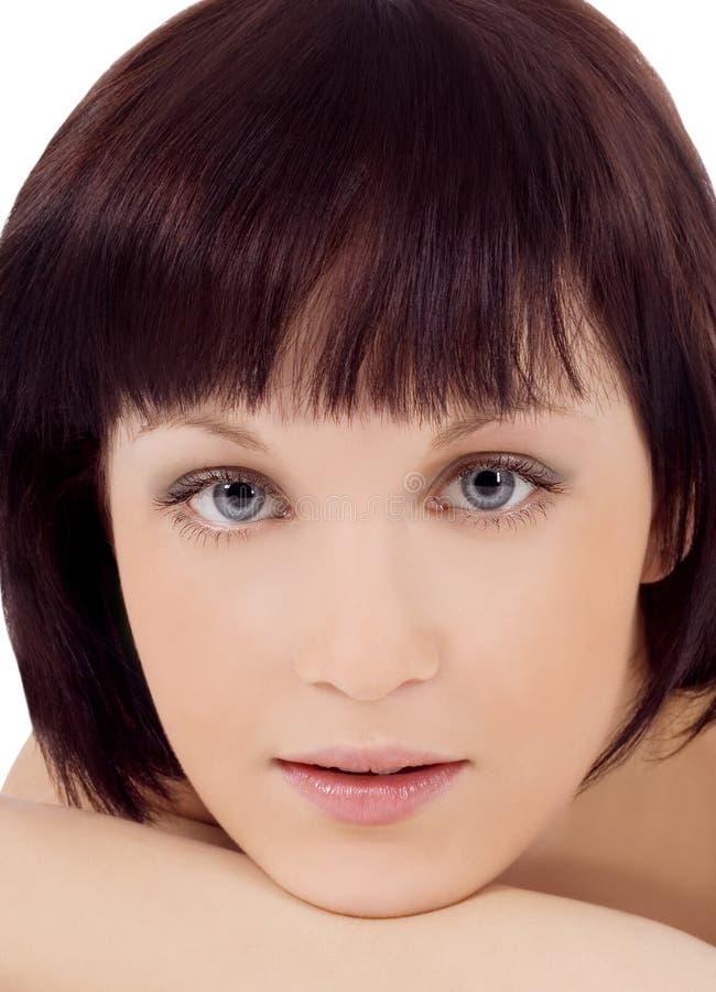 Le beau visage de jeune femme photos libres de droits