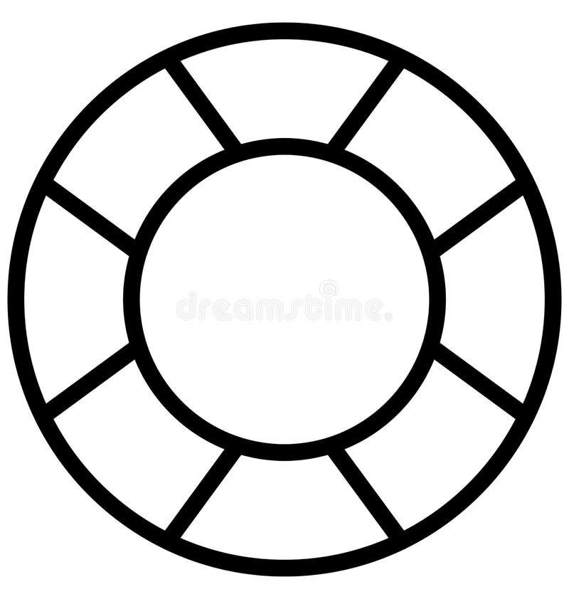 Le beignet de la vie, conservateur de vie a isolé l'icône de vecteur qui peut être facilement modifiée ou éditée illustration stock