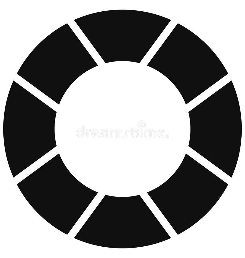 Le beignet de la vie, conservateur de vie a isolé l'icône de vecteur qui peut être facilement modifiée ou éditée illustration de vecteur
