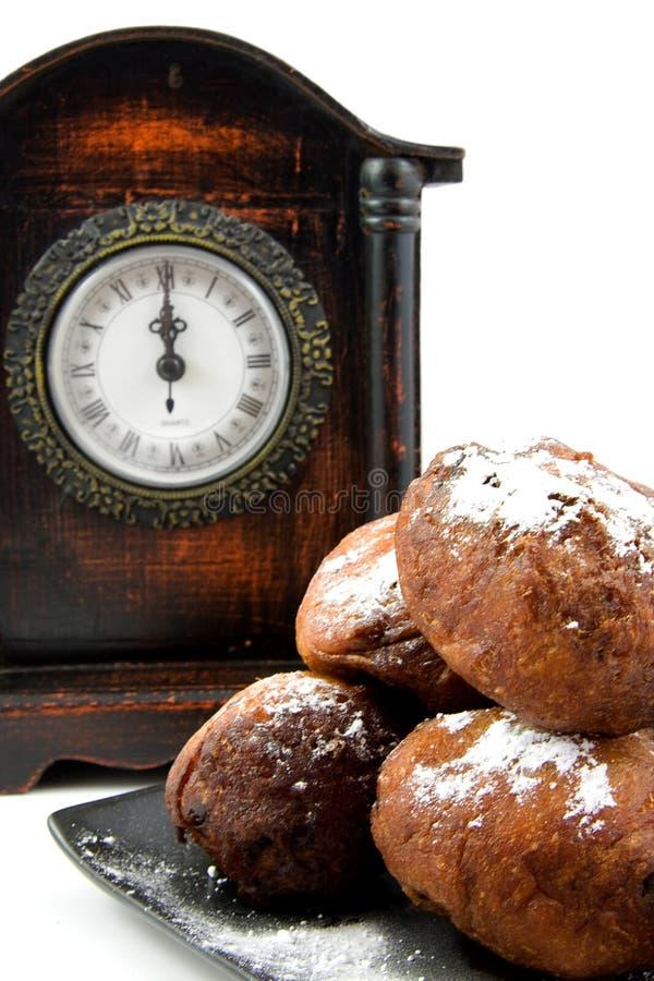 Le beignet hollandais oliebollen images libres de droits