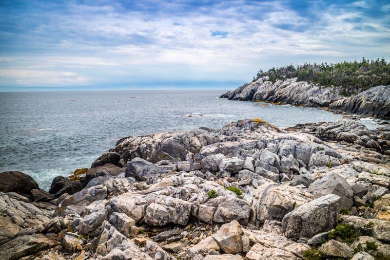 Le bel Au Haut de Duck Harbor Isle en parc national d'Acadia, Maine photographie stock