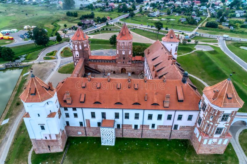 Le Belarus, Mir Castle Forteresse antique, héritage de l'UNESCO images stock