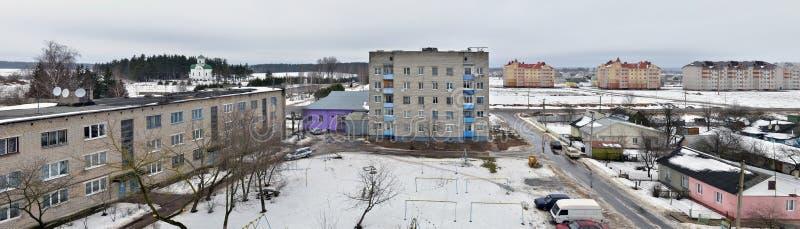 Le Belarus. Vue panoramique de ville de Vileyka images libres de droits