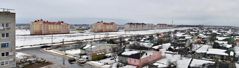 Le Belarus. Vue panoramique de ville de Vileyka photo libre de droits
