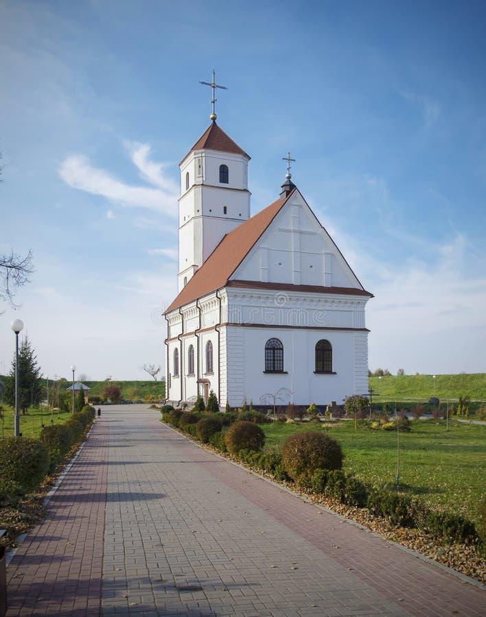 Le Belarus, Zaslavl : Église orthodoxe de Spaso-Preobrazhensky photographie stock