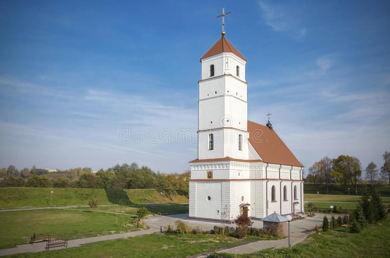 Le Belarus, Zaslavl : Église orthodoxe de Spaso-Preobrazhensky photographie stock libre de droits