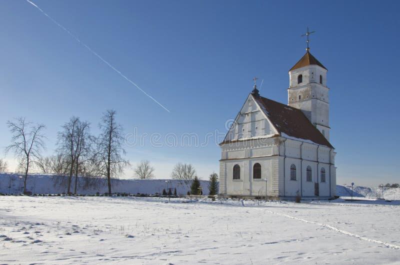 Le Belarus, Zaslavl : Église orthodoxe de Spaso-Preobrazhensky photo libre de droits