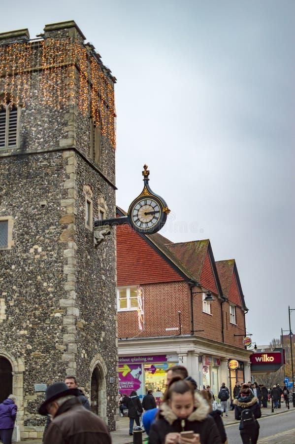 Le belle costruzioni della citt? di Canterbury fotografie stock libere da diritti