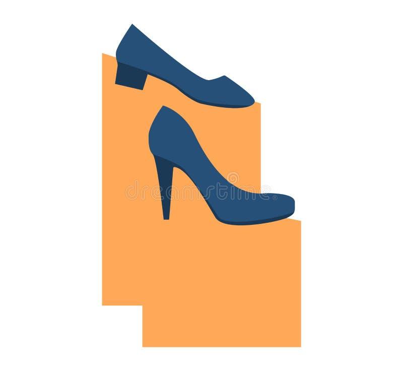 Le belle scarpe delle donne illustrazione vettoriale