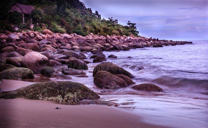Le belle spiagge incontaminate nel Vietnam fotografie stock