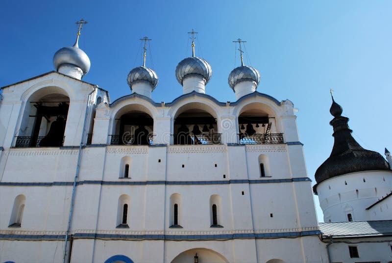 Le Belltower de Kremlin en Rostov le grand image libre de droits