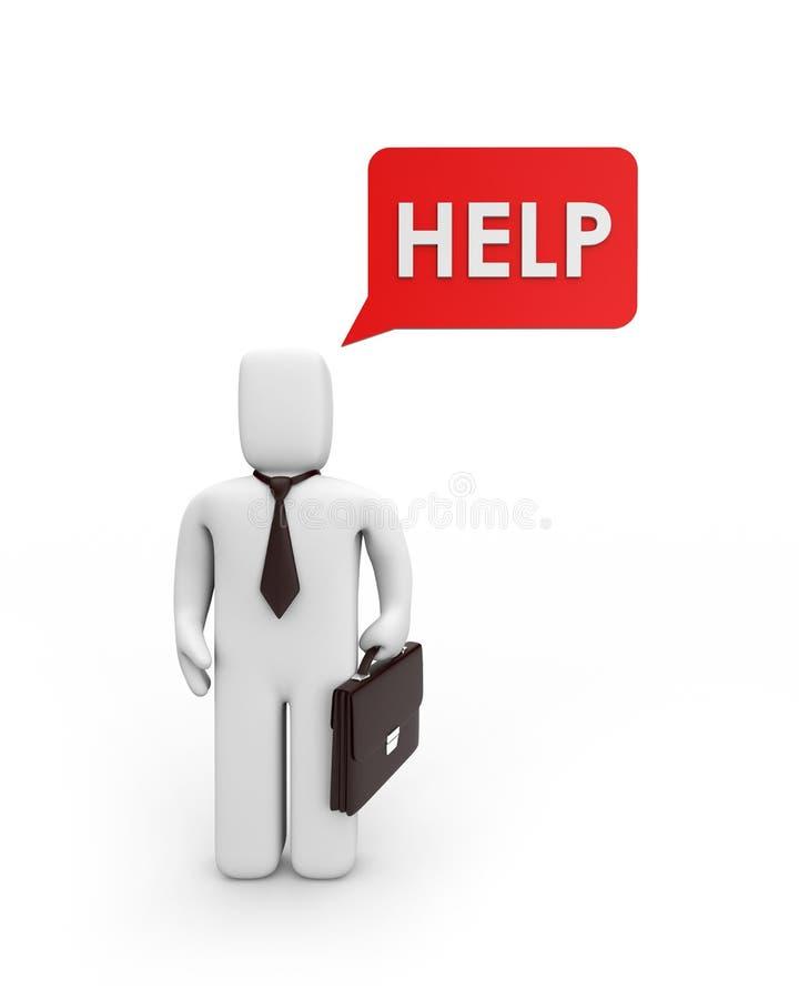le besoin d'aide d'homme d'affaires illustration stock