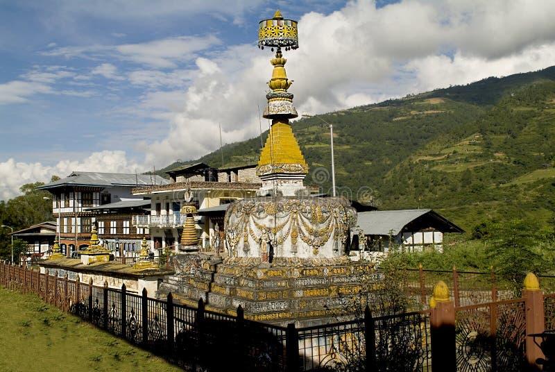 Le Bhutan, Chorten photographie stock libre de droits