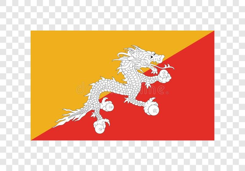 Le Bhutan - drapeau national illustration stock