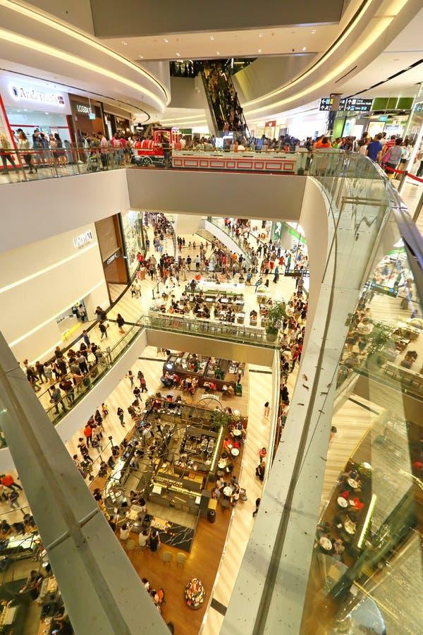 Le bijou de Singapour chez Changi Aiport photographie stock