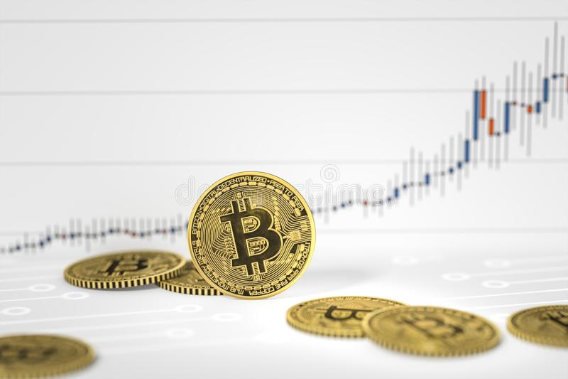 le bitcoin invente le fond de diagramme illustration libre de droits