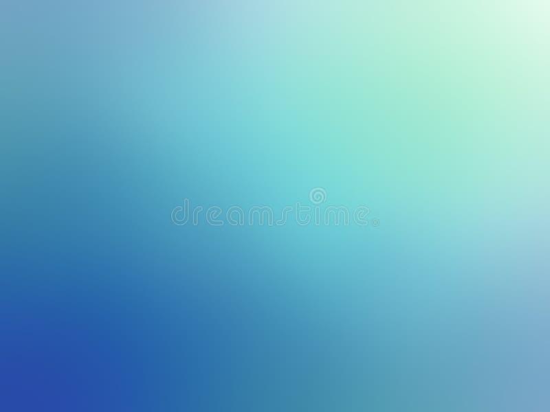 Le blanc abstrait de turquoise de gradient a coloré le fond brouillé images libres de droits