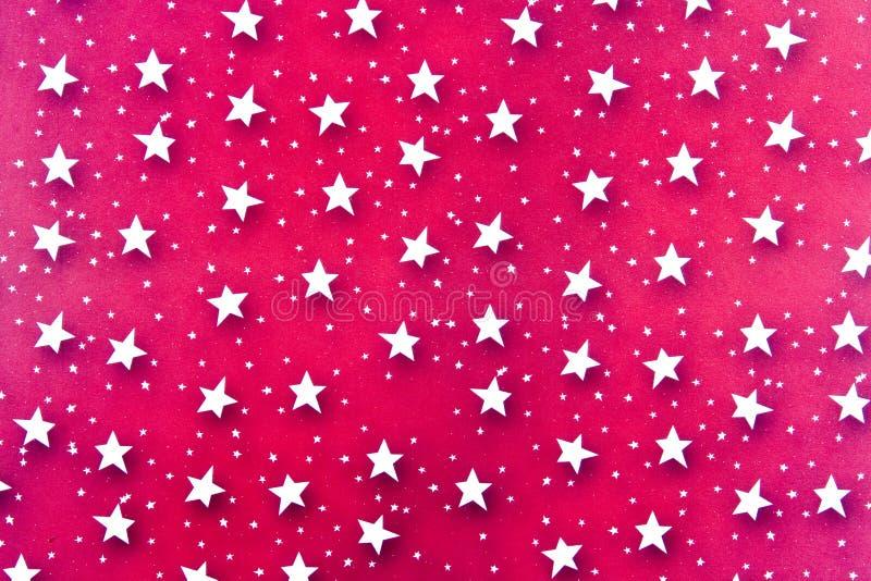 Le blanc abstrait Stars le fond photographie stock