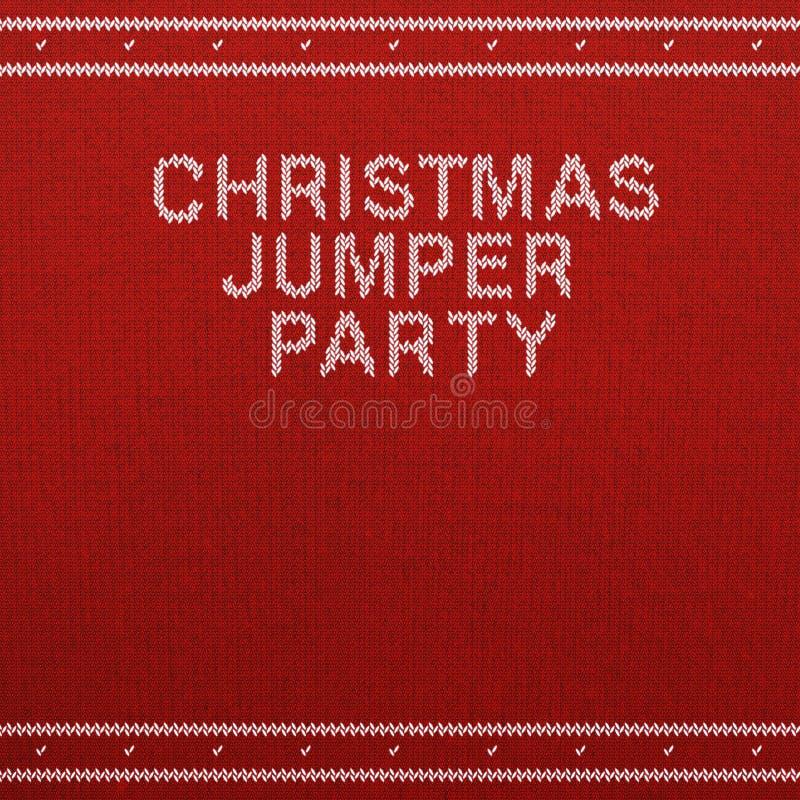 Le blanc de Jumper Party de Noël invitent le calibre images libres de droits