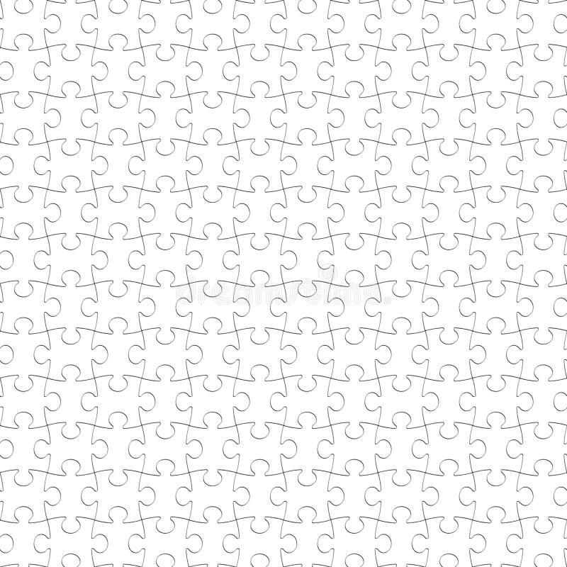 Le blanc de puzzle rapièce le fond sans couture, modèle denteux vide illustration de vecteur