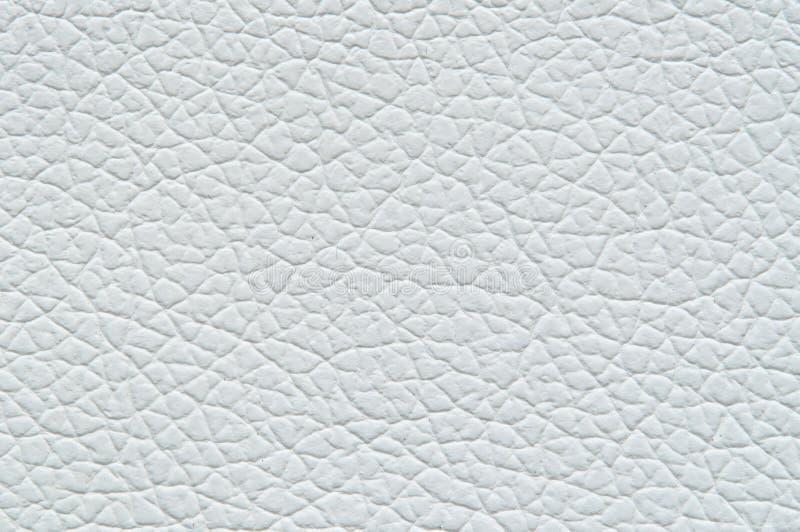 Le blanc frais en cuir de Faux ombrage la texture principale photo libre de droits