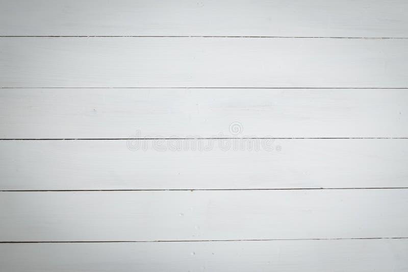 Le blanc a peint le fond en bois de modèle de texture photos libres de droits
