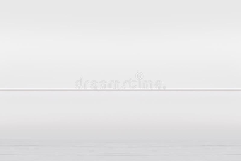 Le blanc a peint le mur et le plancher en bois de vintage, fond intérieur images stock