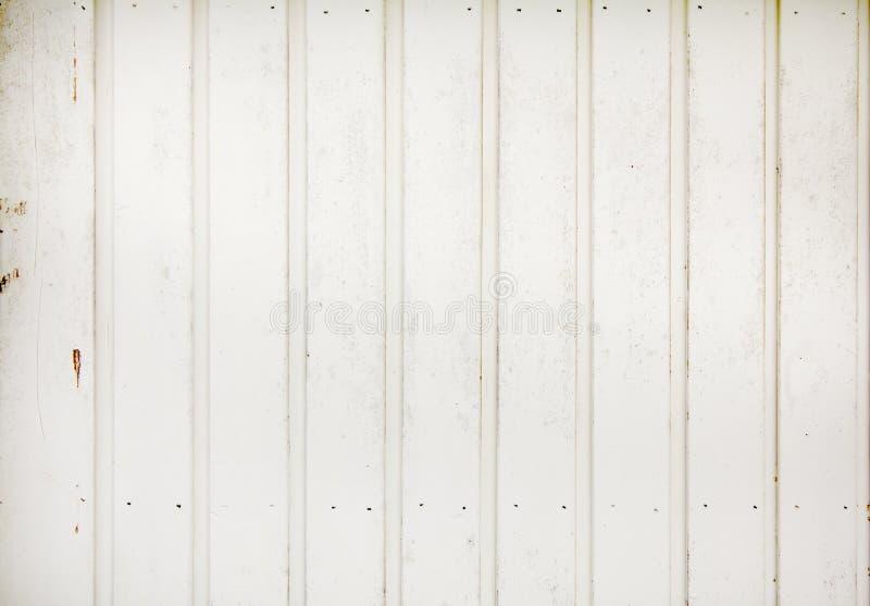 Le blanc a peint le vieux fond en bois de texture de panneau photographie stock