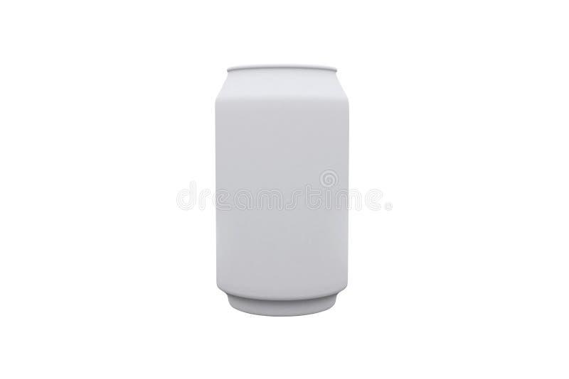 Le blanc peut et le fond blanc photo stock