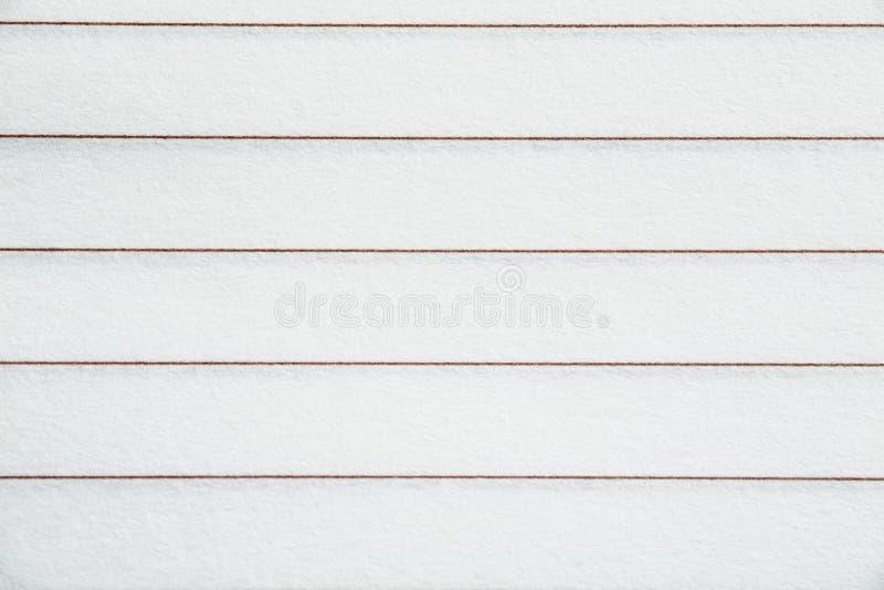 Le blanc a rayé la feuille de texture de papier, plan rapproché image stock